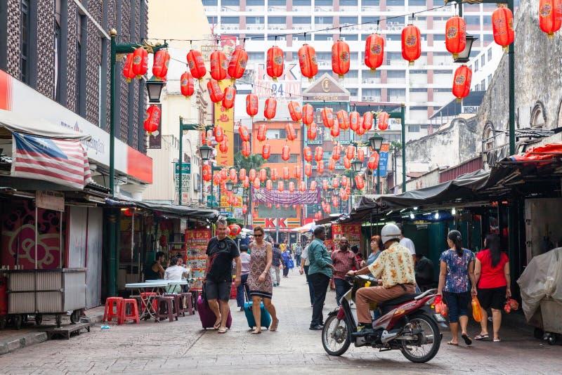 Rue de Petaling, Kuala Lumpur, Malaisie image stock