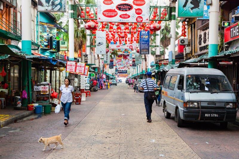 Rue de Petaling, Kuala Lumpur, Malaisie photos libres de droits