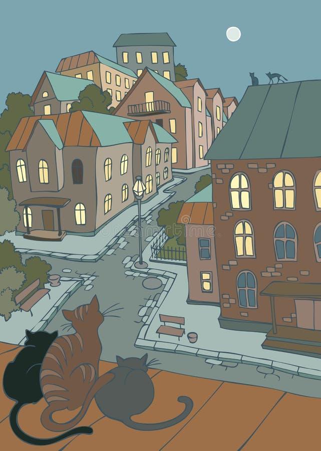 Rue de petite ville illustration stock