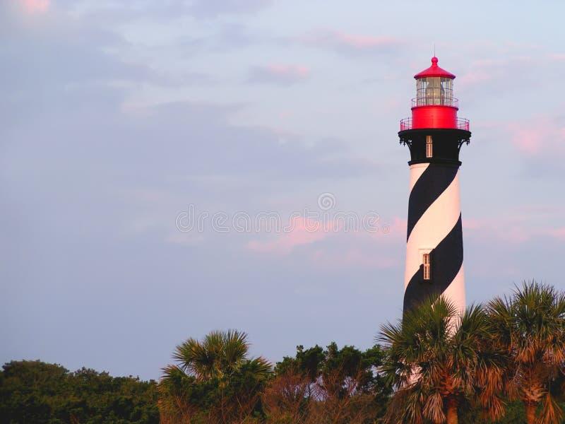 rue de phare de la Floride d'augustine images stock