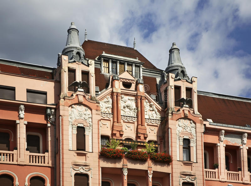 Rue de Piac (marché) à Debrecen hungary photos stock