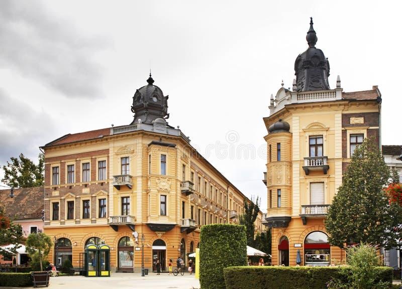 Rue de Piac (marché) à Debrecen hungary images stock