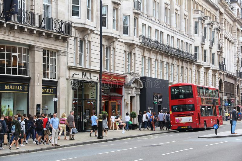 Rue de Piccadilly, Londres photo stock