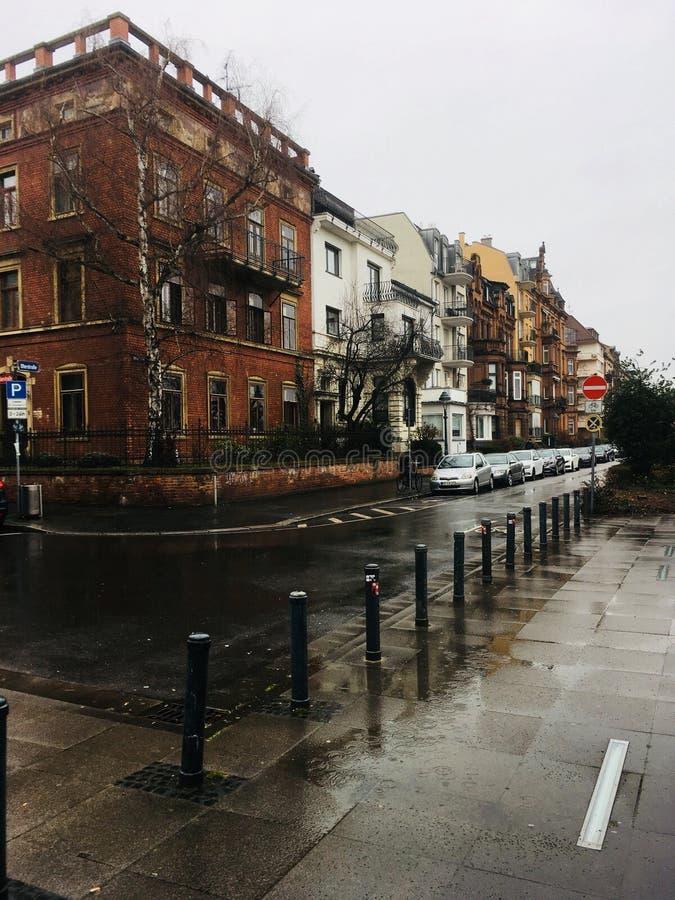 Rue de pluie images libres de droits