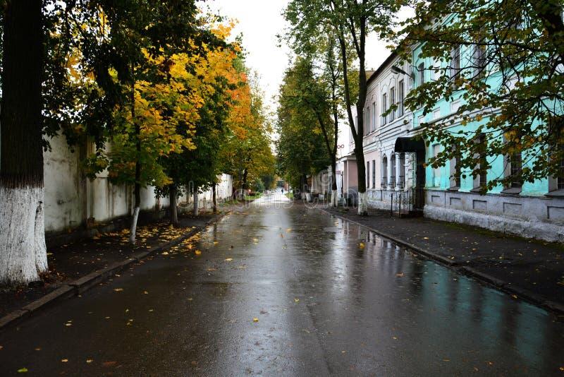 Rue de Pokrovskaya sur la rive droite de la rivière occidentale de Dvina, où Marc Chagall a dépensé son enfance et adolescence da images stock