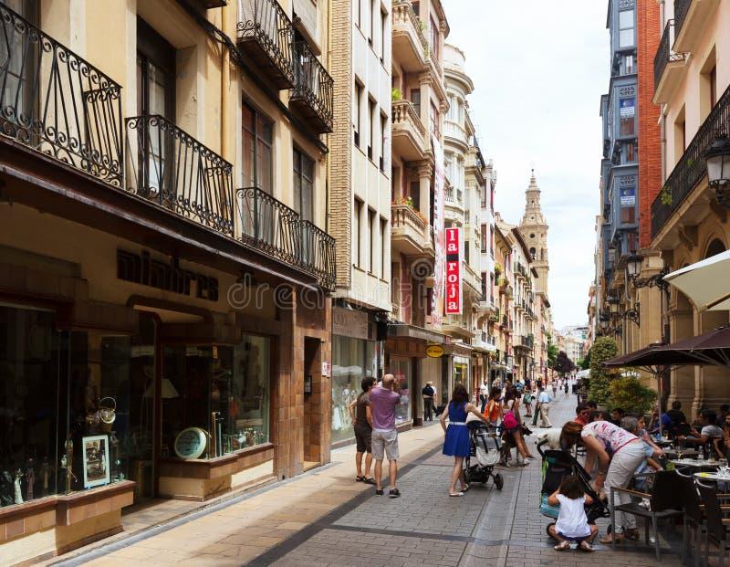 Rue de Portales Logrono, Espagne photos libres de droits