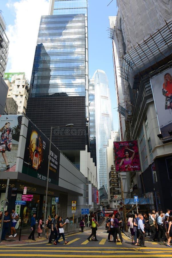 Rue de Pottinger, Hong Kong Island image libre de droits