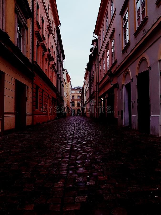 Rue de Prague image stock