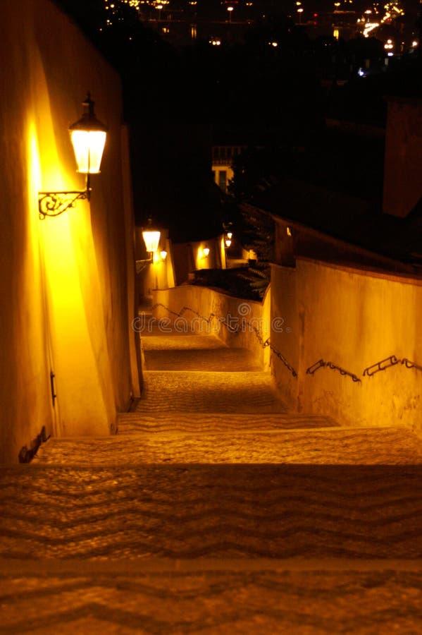 Rue De Prague La Nuit Images stock