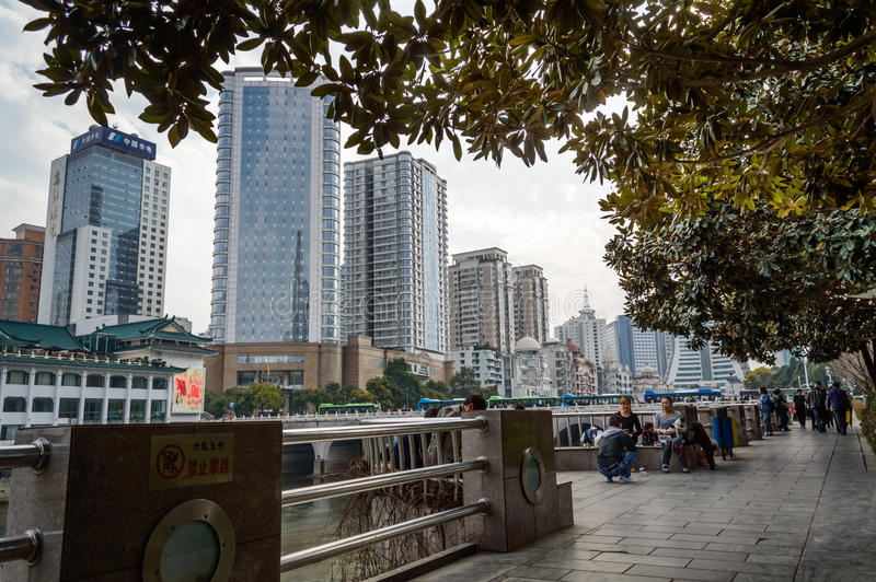 Rue de promenade de Guiyang de ville de tourisme images stock