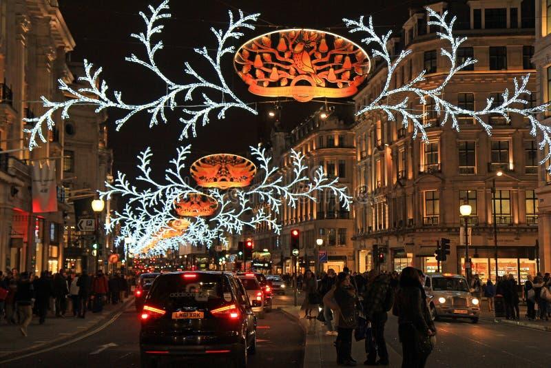 Download Rue De Régent à Noël, Londres Photo éditorial - Image du lumières, rouge: 45357006