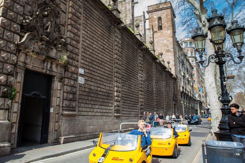 Rue de Rambla de La à Barcelone Espagne photos stock