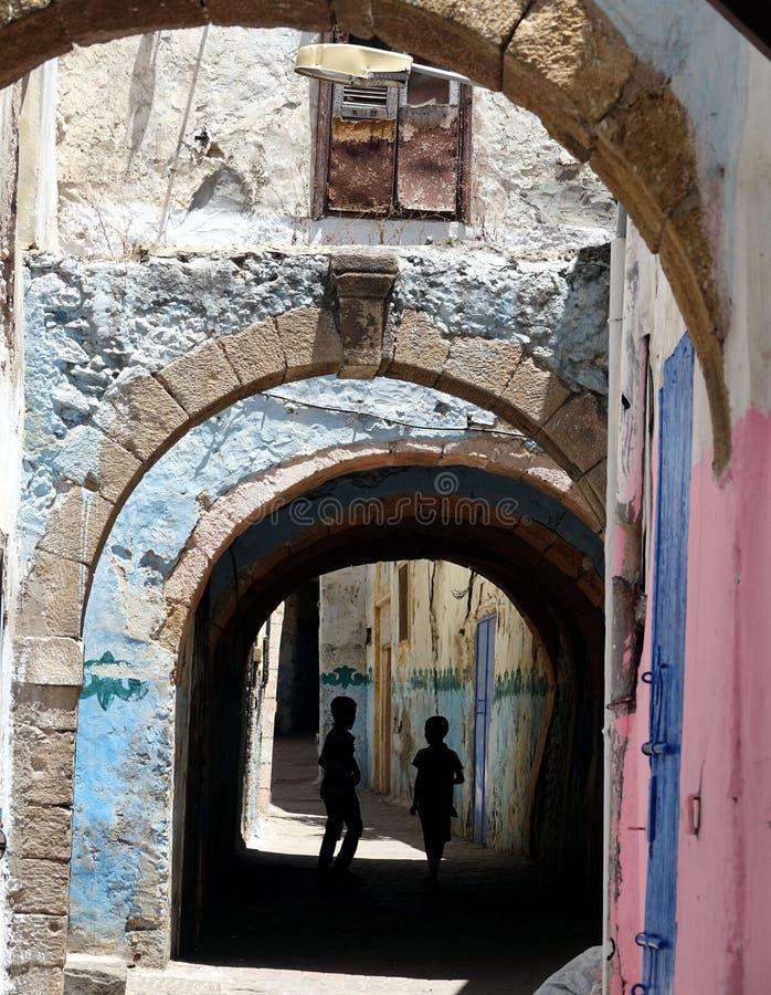 Rue de Representatieve pour une ville au Maroc, Afrique image libre de droits