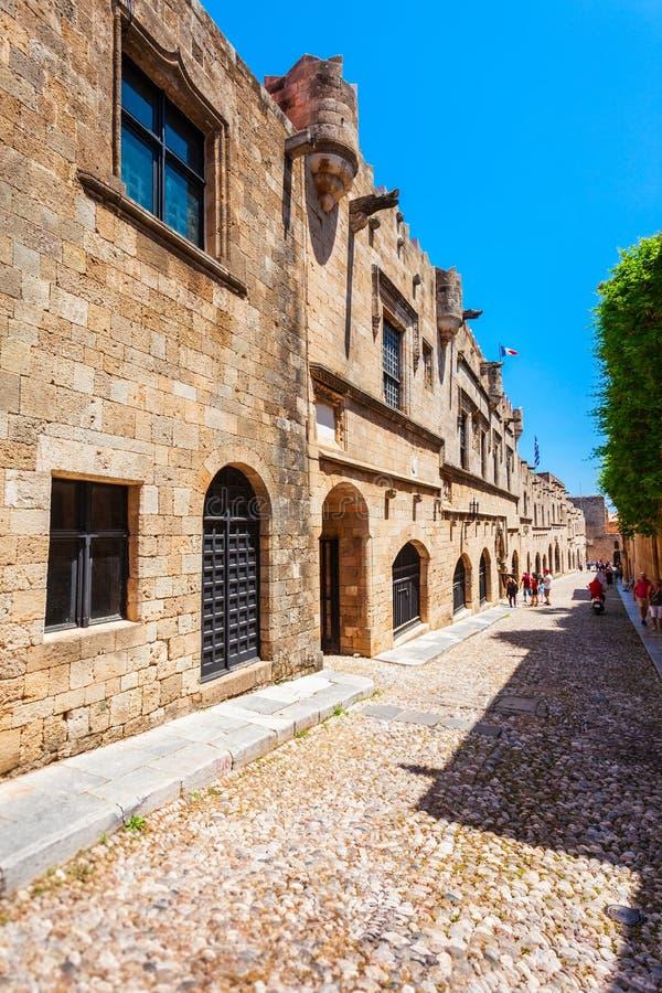 Rue de Rhodes Knights, Grèce photographie stock libre de droits