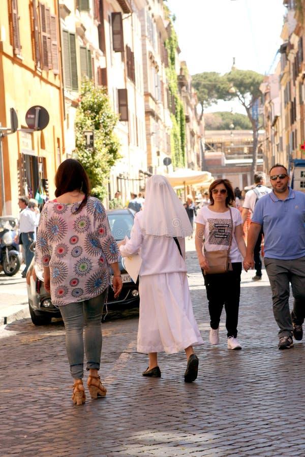 Rue de Rome Italie photographie stock libre de droits