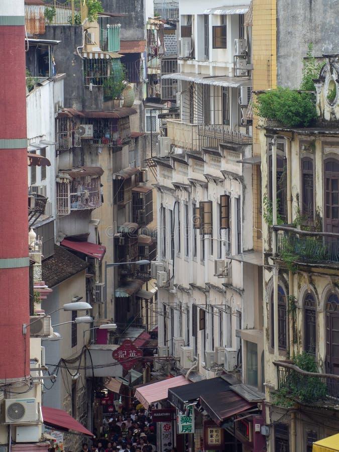 Rue de Rua de S Paul, Macao photo libre de droits