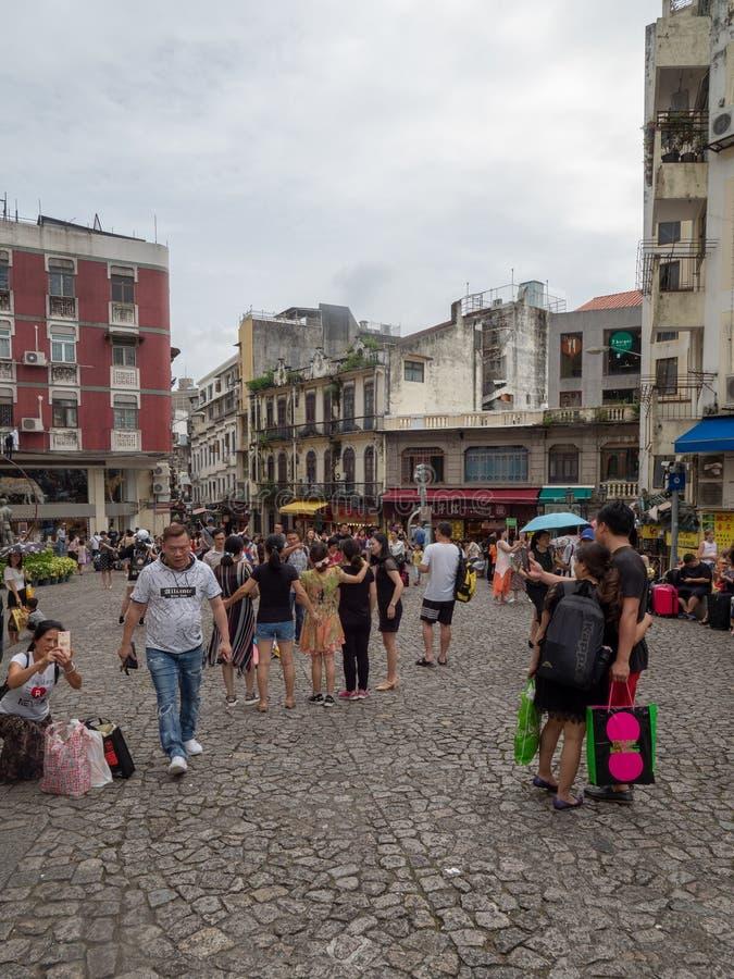 Rue de Rua de S Paul, Macao images stock