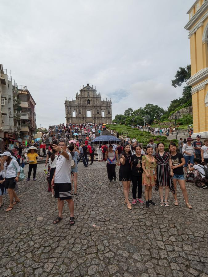 Rue de Rua de S Paul, Macao photo stock