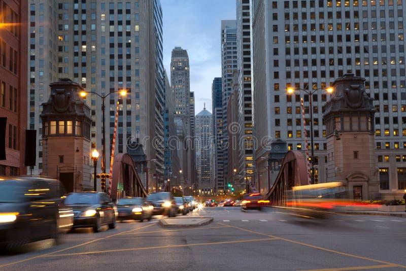 Rue de Salle de La de Chicago. photos stock