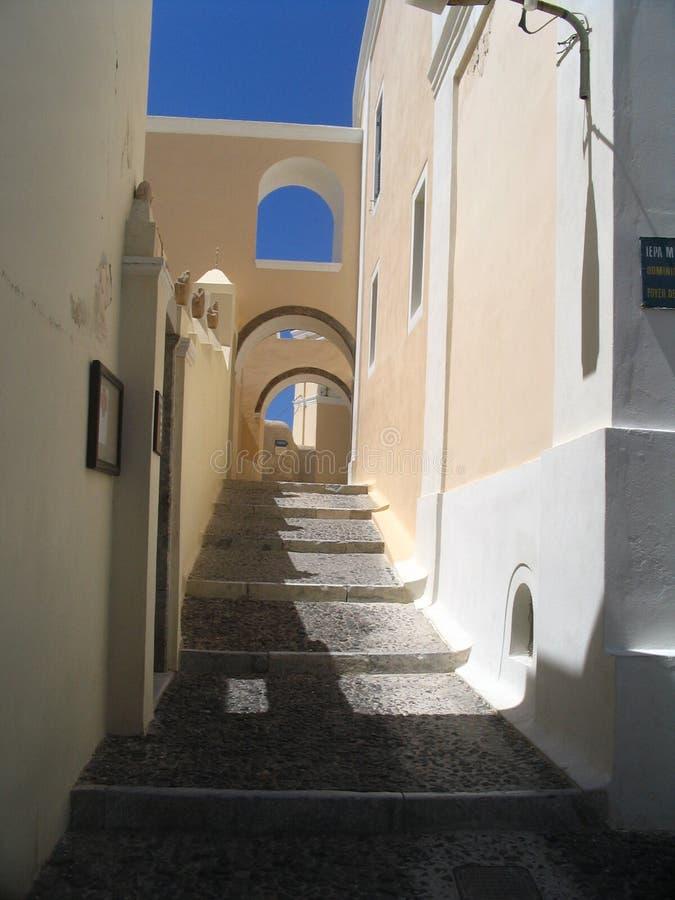 rue de santorini photo stock
