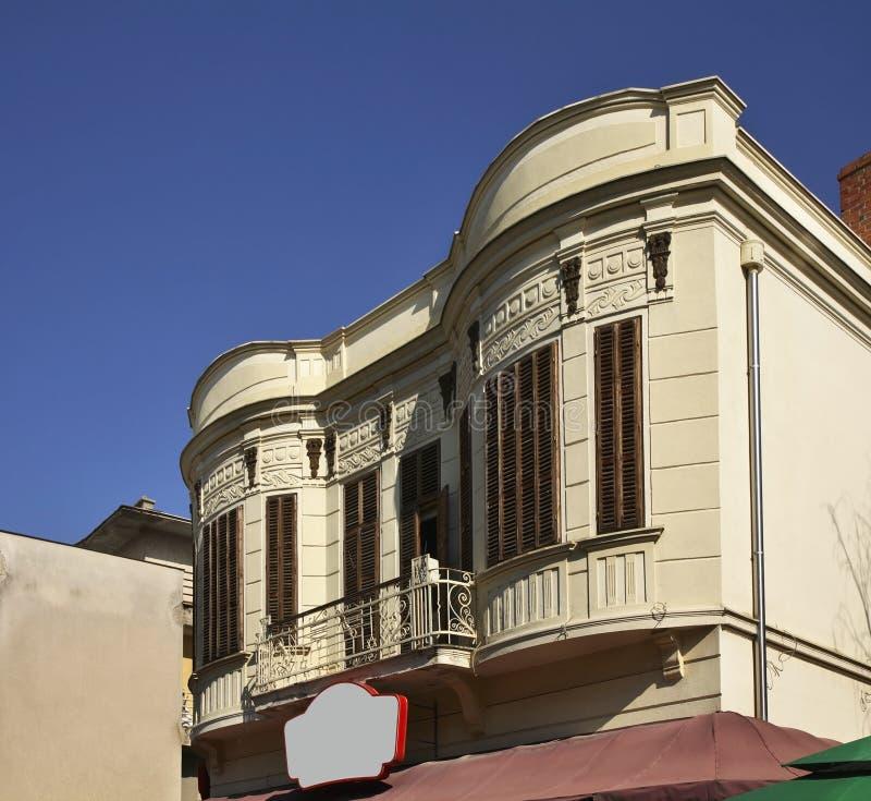 Rue de Shirok Sokak dans Bitola macedonia photographie stock