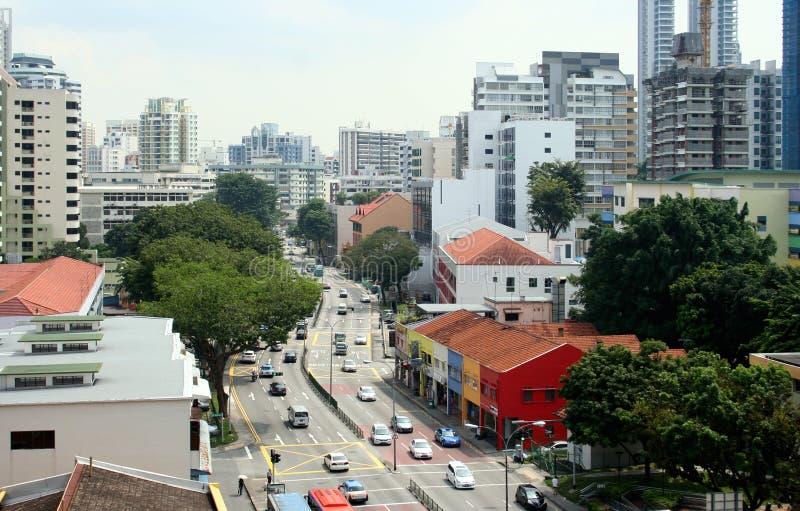 Rue de Singapour image stock