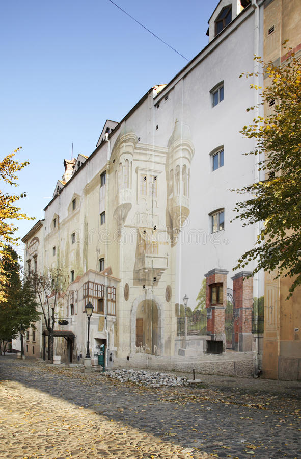 Rue de Skadarlija à Belgrade serbia images stock