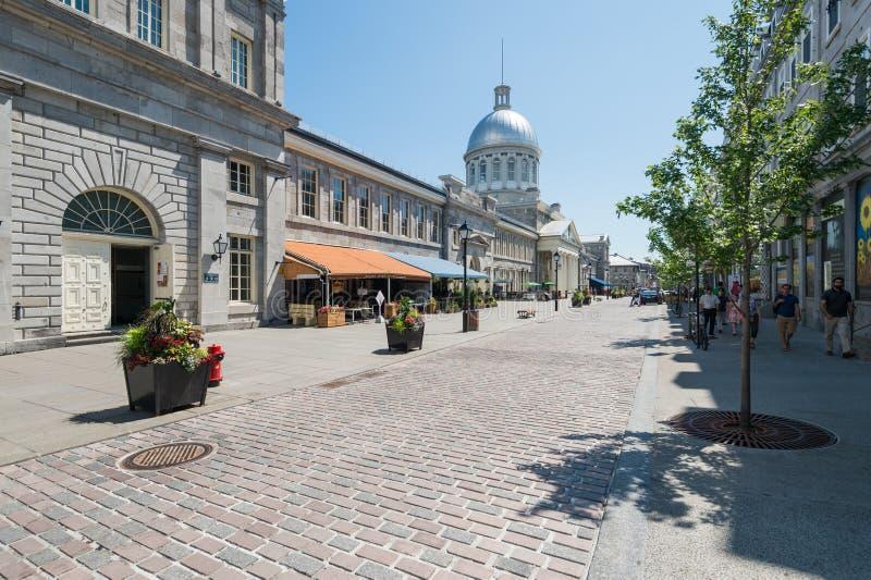 Rue de St Paul à vieux Montréal photographie stock libre de droits