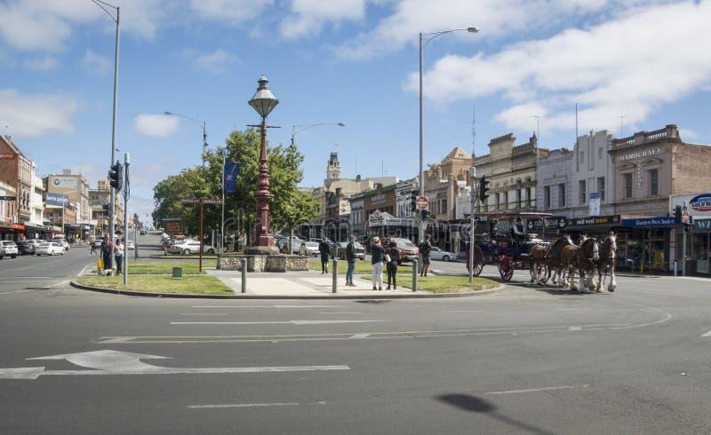 Rue de Sturt, Ballarat, Victoria, Australie photographie stock