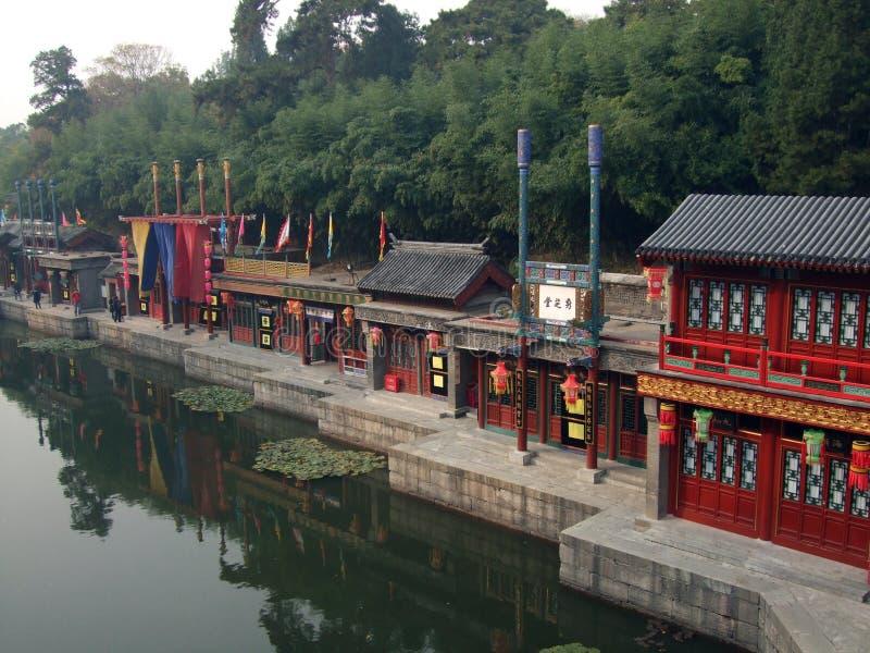Rue de Suzhou de palais d'été YI il yuans chez Pékin photo libre de droits