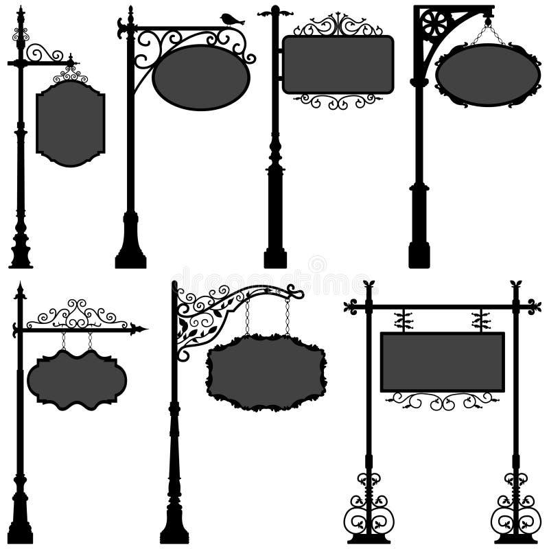 Rue de trame de Pôle de signe de Signage illustration stock