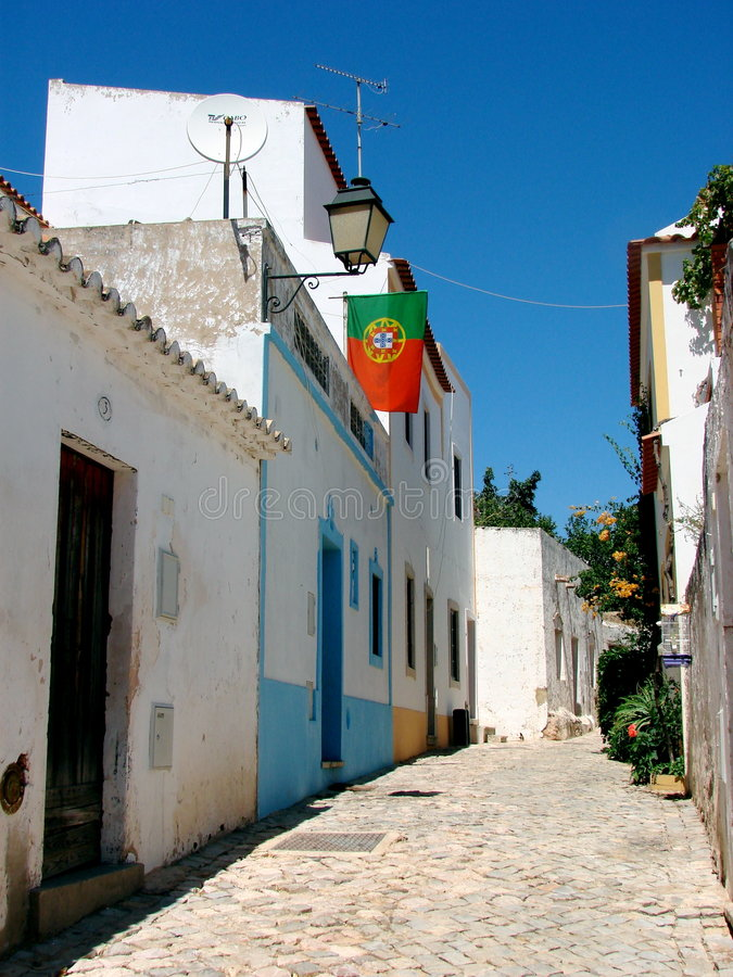 Rue De Village D Alte, Portugal Image libre de droits