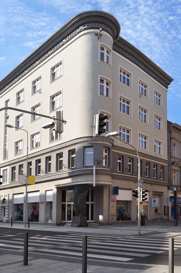 Rue de ville de Cheb. République Tchèque photo libre de droits