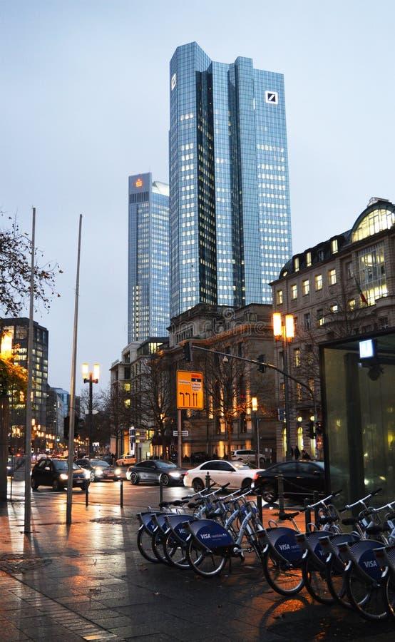 Rue de ville de Francfort photo stock