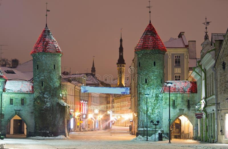 Rue de Viru à Tallinn photographie stock