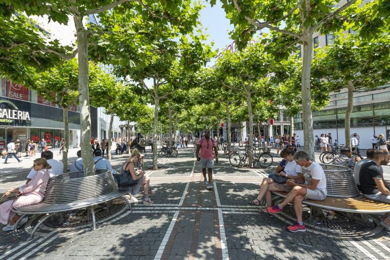Rue de Zeil à Francfort photo stock