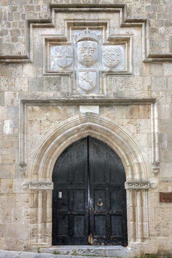 Rue des chevaliers, Rhodes images stock