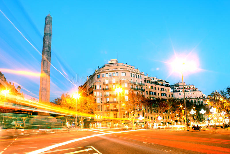 Rue diagonale à Barcelone, Espagne photo stock