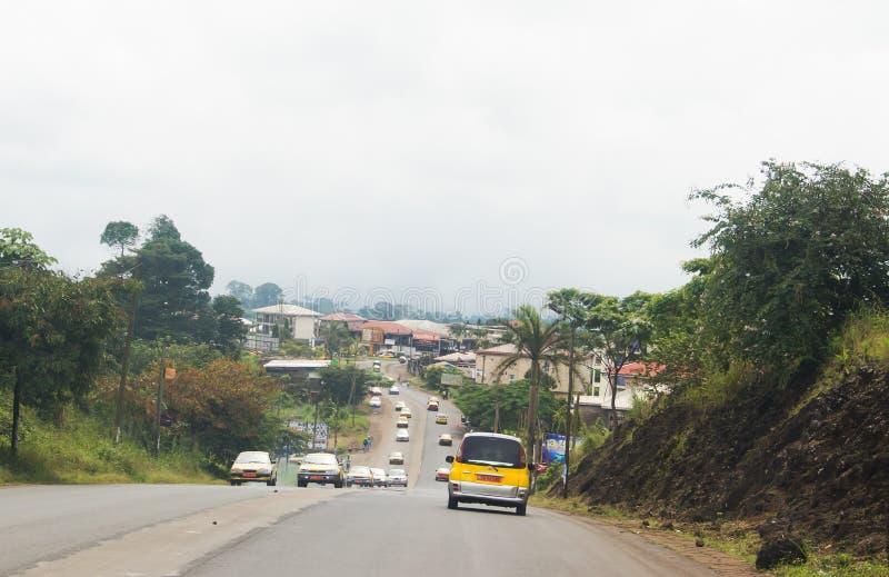 Rue du Cameroun, région du sud-ouest photographie stock