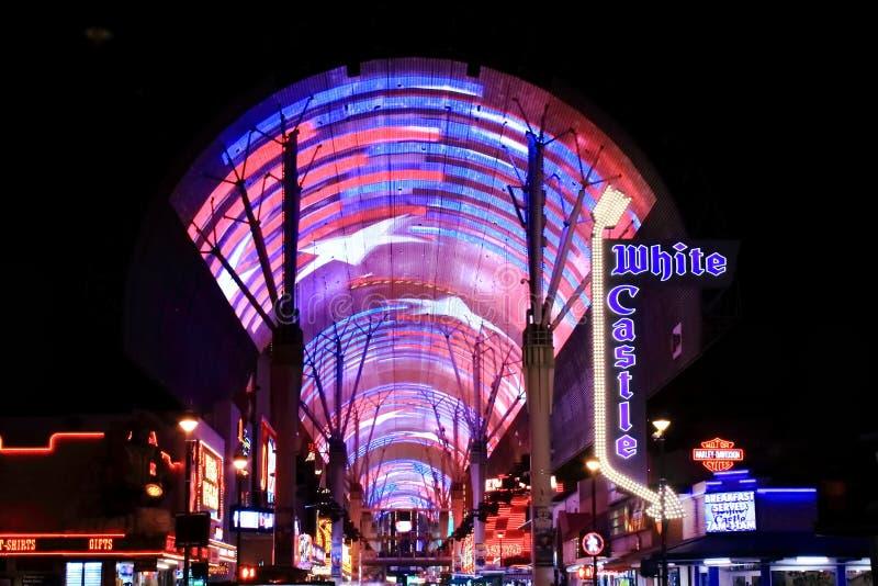 Rue du centre de Fremont, Las Vegas, nanovolt photo libre de droits