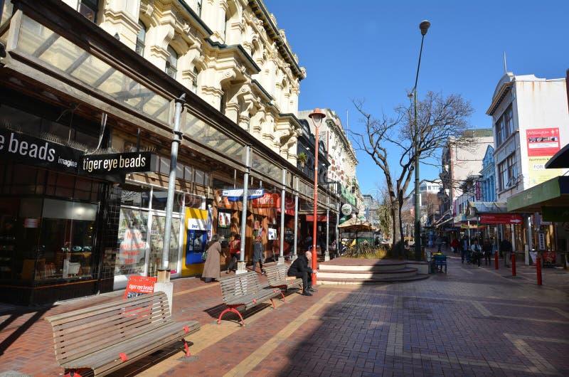 Rue du Cuba en Wellington New Zealand photographie stock libre de droits