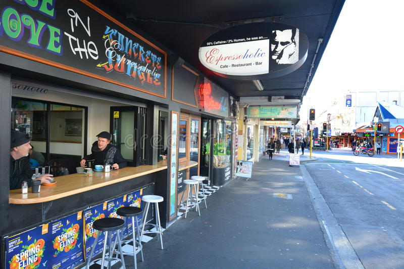 Rue du Cuba en Wellington New Zealand photo libre de droits
