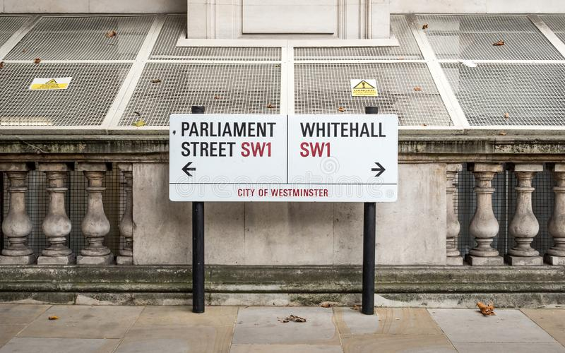 Rue du Parlement et Whitehall, Westminster, Londres photo stock