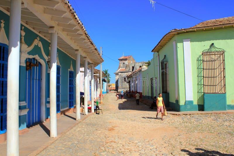 Rue du Trinidad, Cuba photos stock