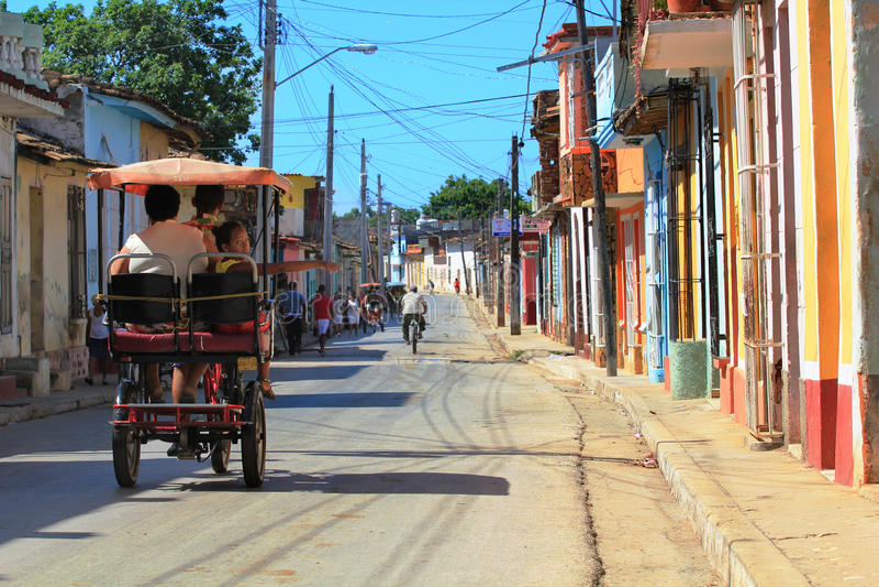 Rue du Trinidad, Cuba photo stock