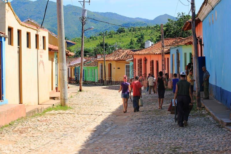 Rue du Trinidad, Cuba photos libres de droits