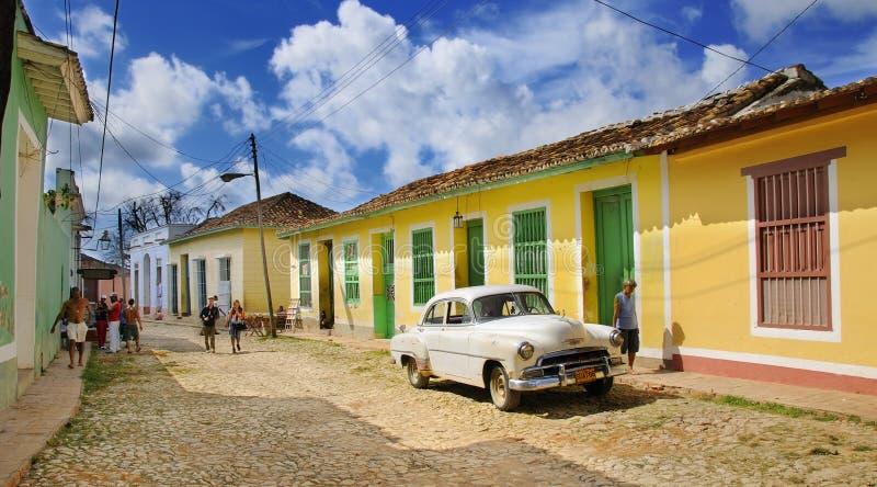 Rue du Trinidad, Cuba. OCTOBRE 2008 photographie stock libre de droits