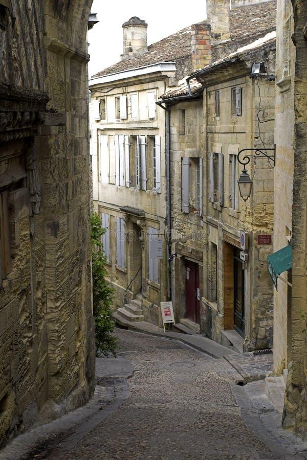 Rue Emilion, France images libres de droits