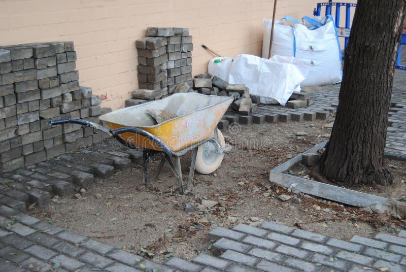 Rue en construction images stock