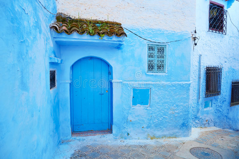 Rue en Médina de Chefchaouen, Maroc photographie stock